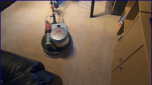 Carpet in Milton Keynes being bonnet cleaned