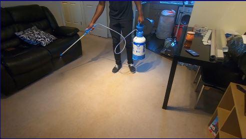 Pre-spraying carpet in Milton Keynes